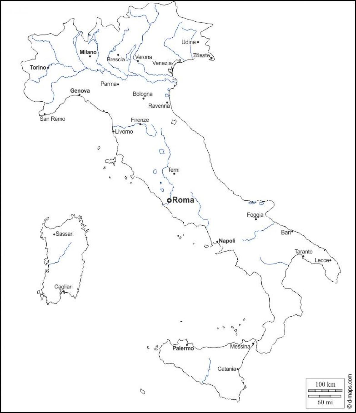 Italy Map Outline