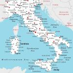 Map Of Italy With Towns Printable Map Of Italy With Cities And Towns Southern Europe Europe