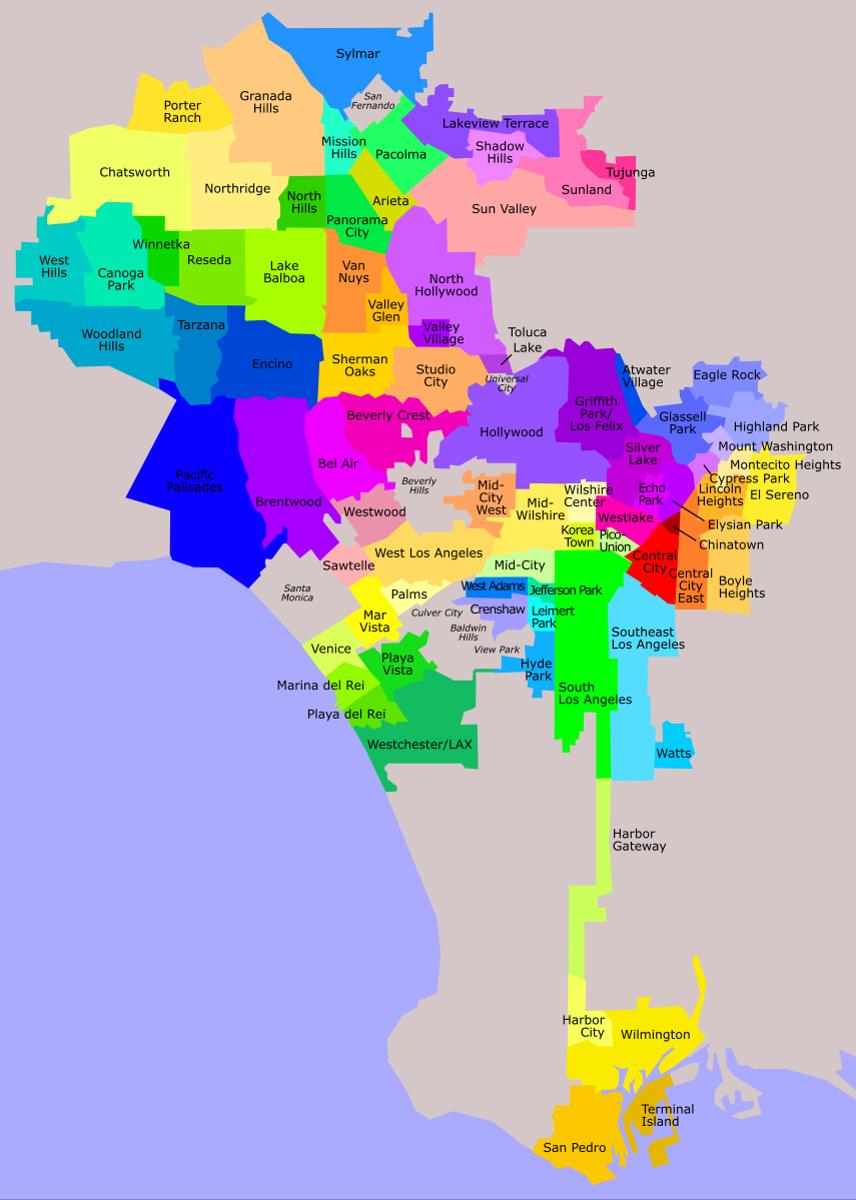 La District Map