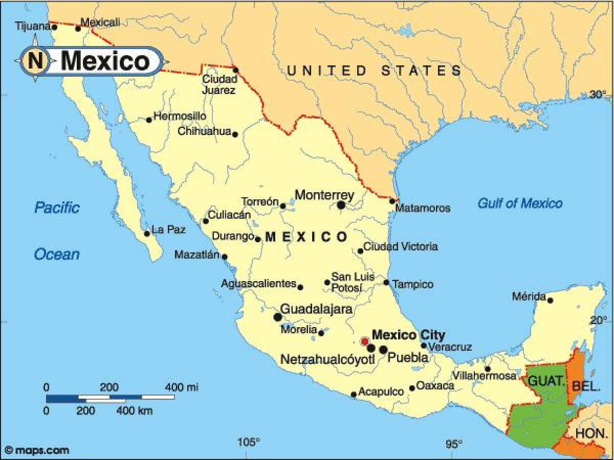 Country Map Of Mexico