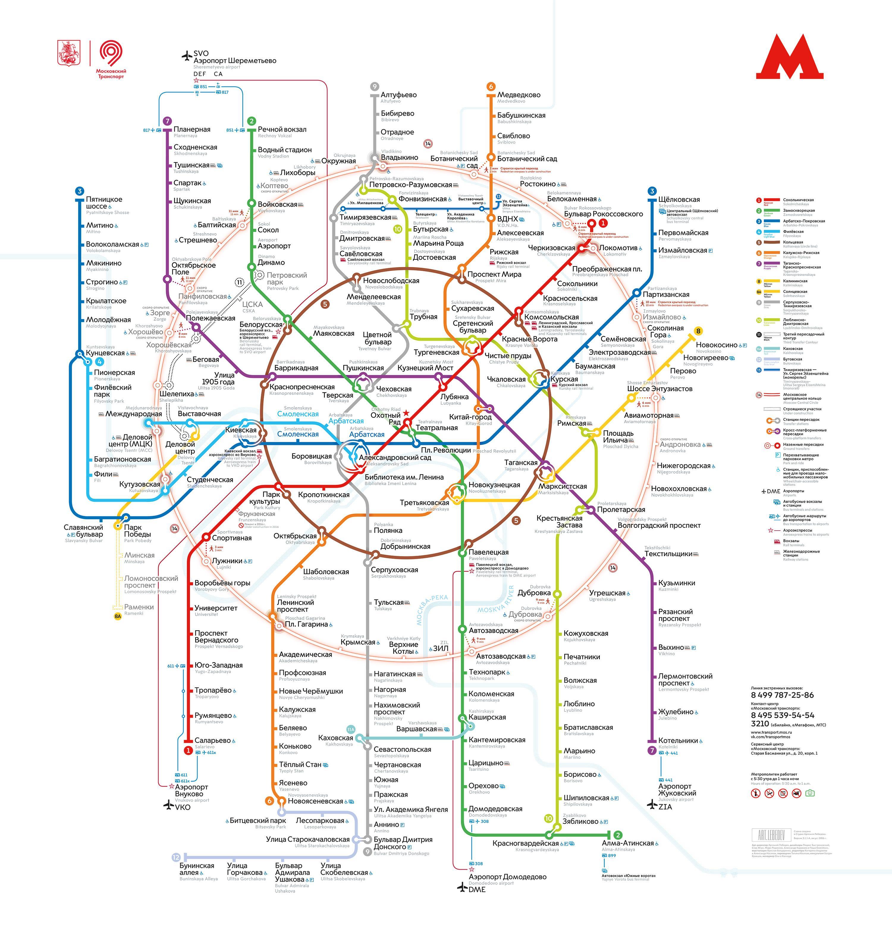 Russia Map St English Petersburg 2017 Metro