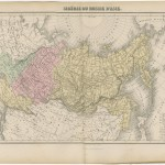 Antique Map Of Russia And Siberia By Migeon 1880