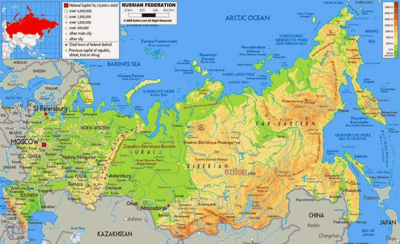 Russia Geography Map