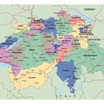 Major Cities In Switzerland Map Map Of Switzerland With Cities And Towns Western Europe Europe