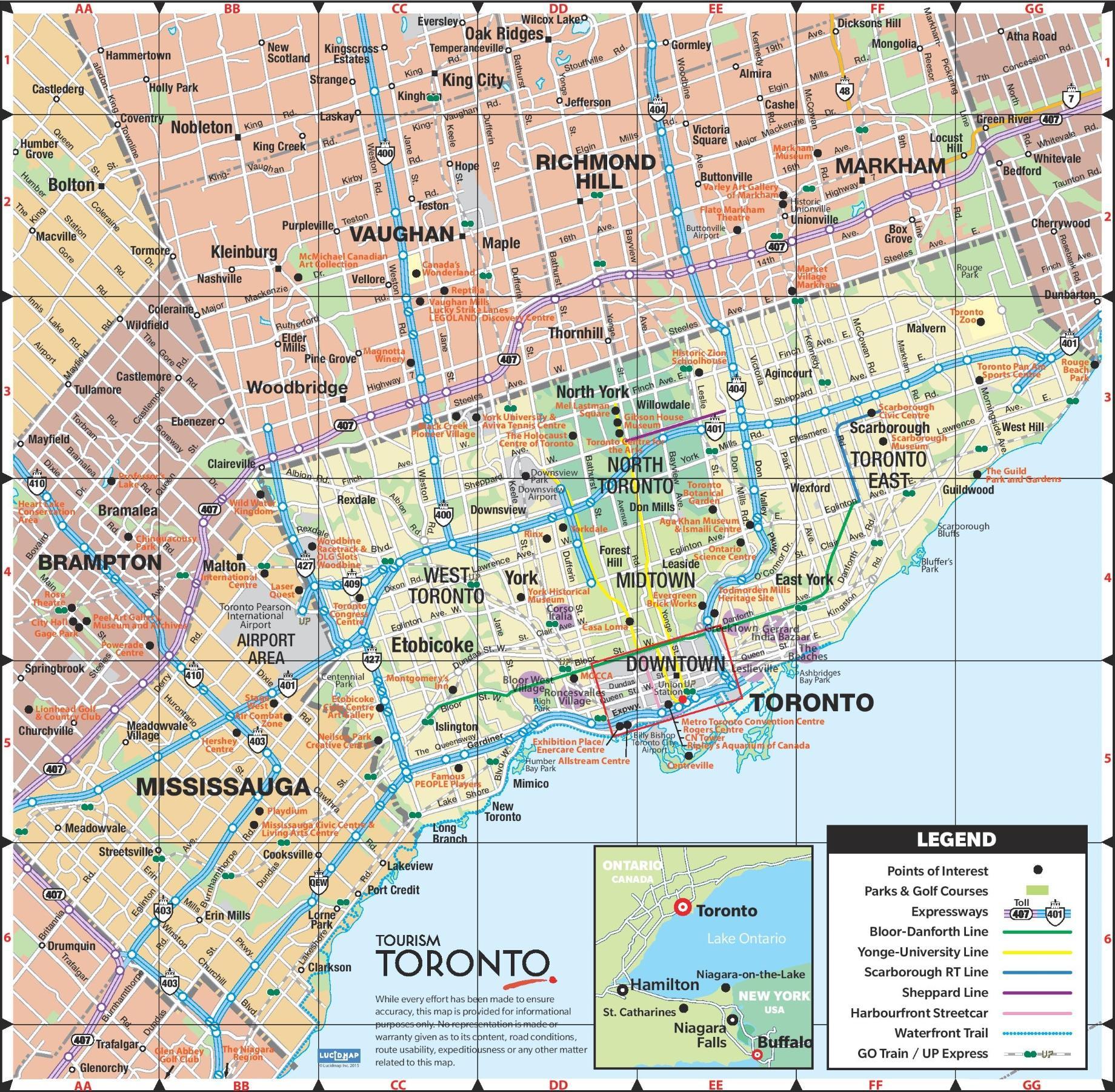map of toronto canada