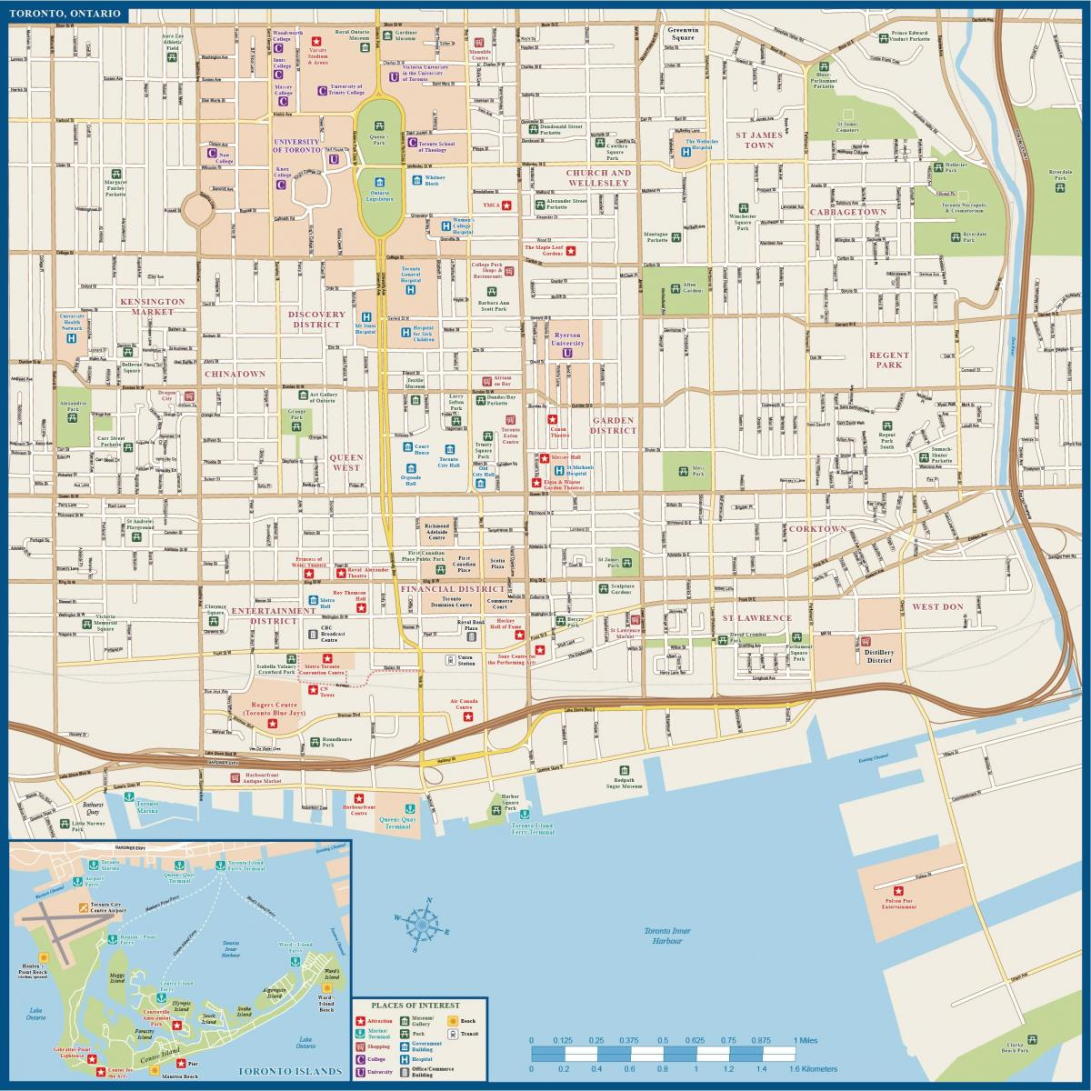 Toronto Downtown Tour Map another1storg