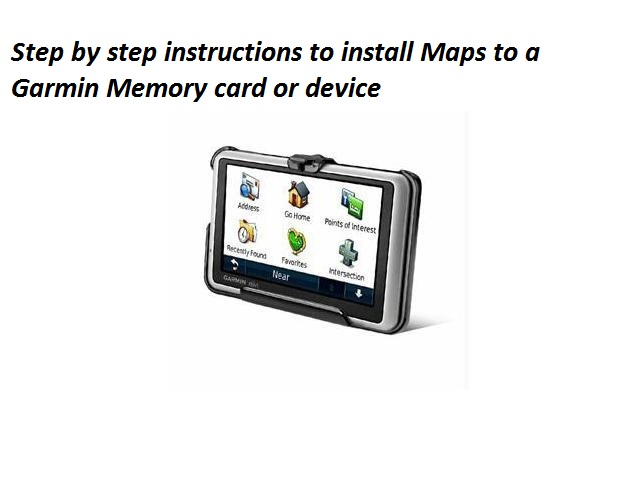 What are the steps to install Maps to a Garmin Memory card
