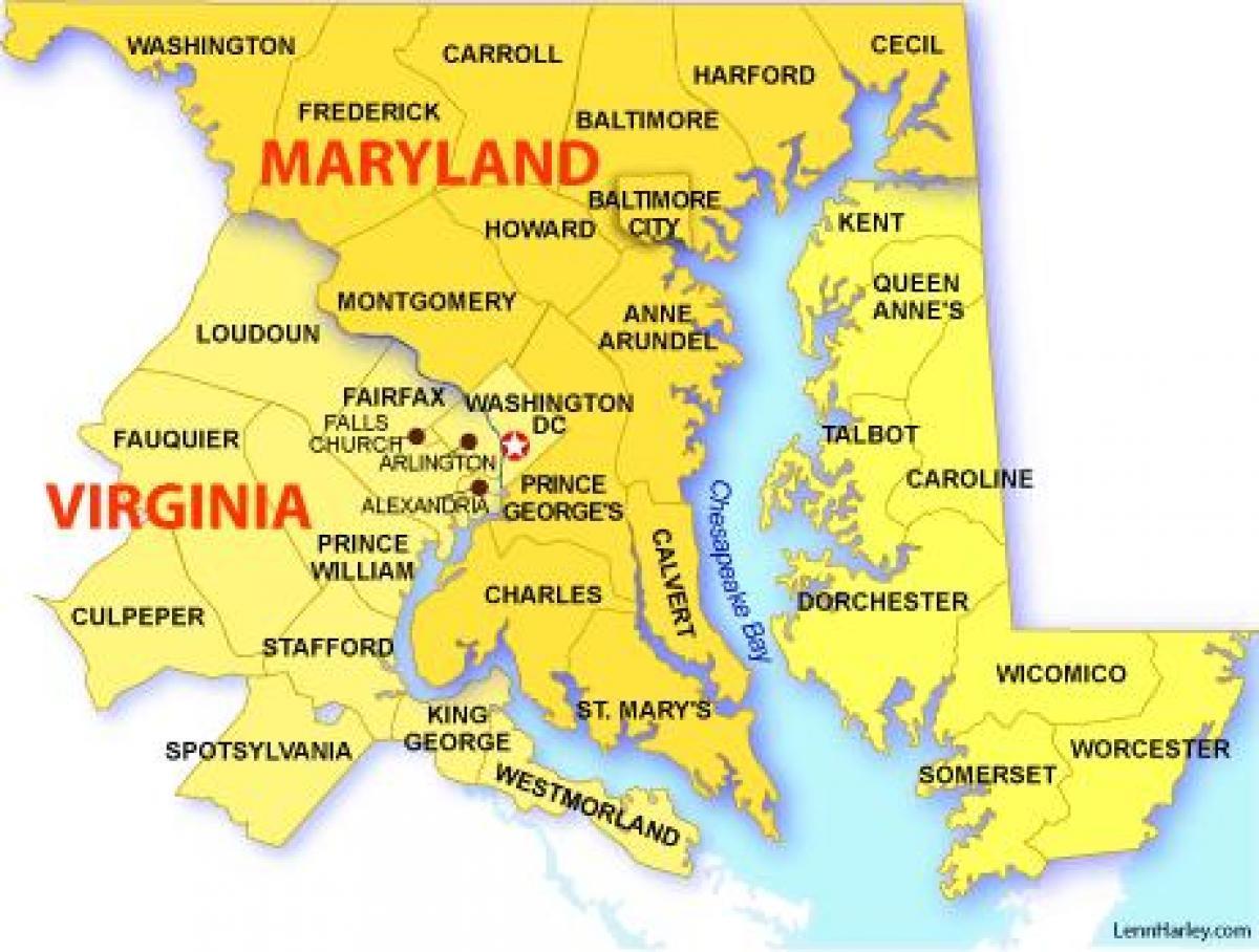 Dc Maryland Virginia Map
