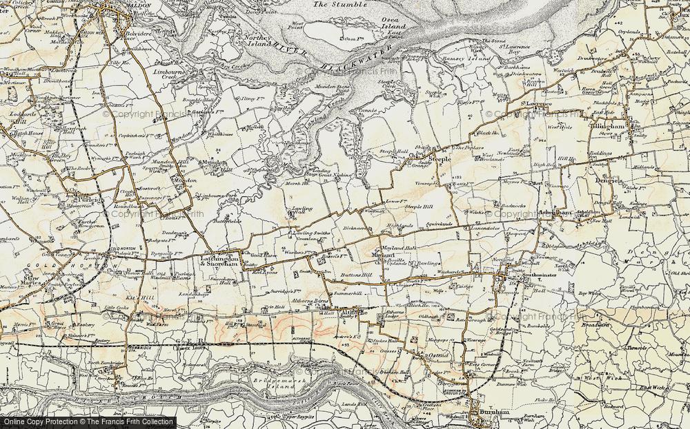 map of mayland 1898