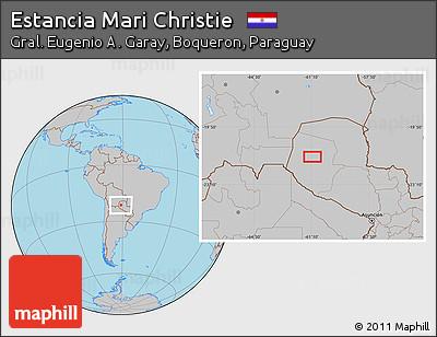 Gray Location Map of Estancia Mari Christie