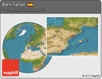 Satellite Location Map of Benifallet