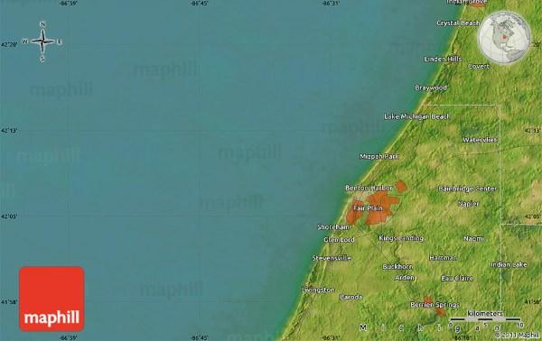 Satellite Map of Berrien Center