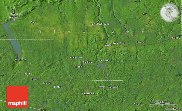 Satellite Map of Sleepy Hollow