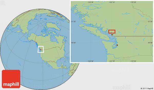 Savanna Style Location Map of Britannia Beach