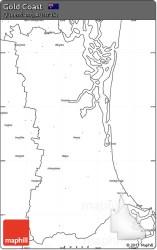 coast gold map blank simple queensland australia maps east west