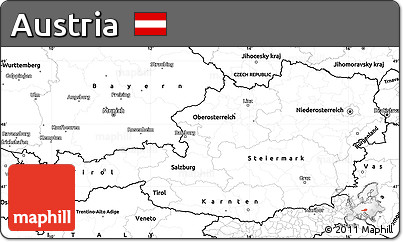Free Blank Simple Map of Austria