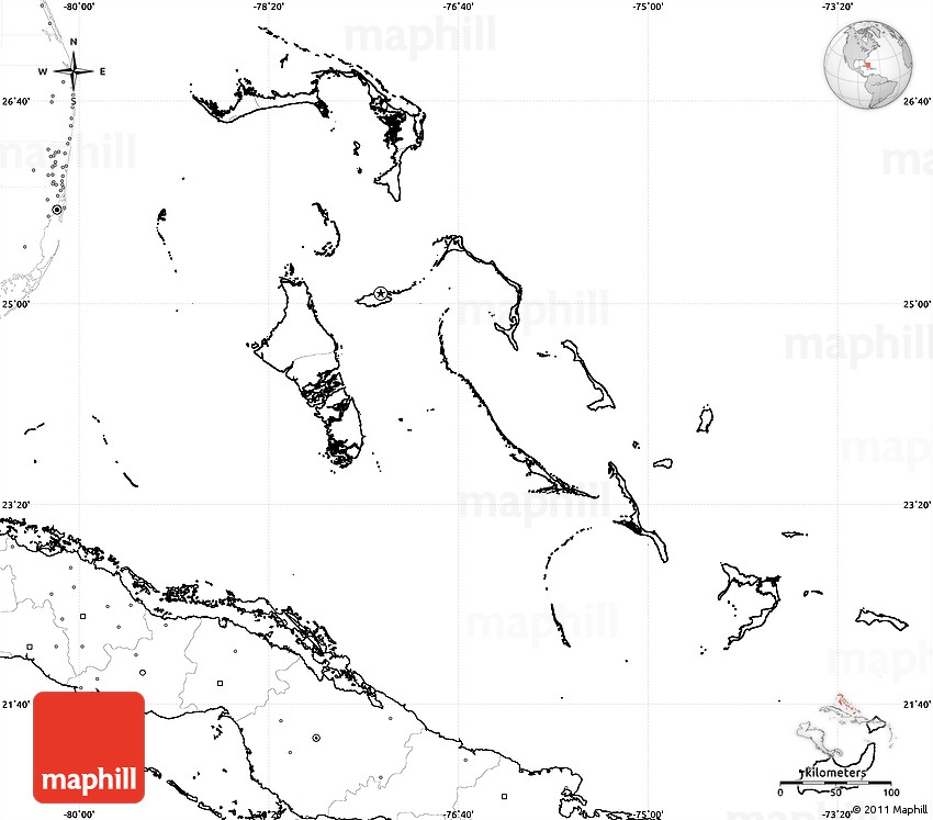 Blank Map Of The Bahamas