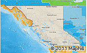 Shaded Relief 3D Map of British Columbia