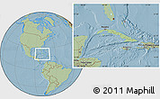 Savanna Style Location Map of Cuba highlighted continent