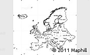 Free Blank Simple Map of Europe, cropped outside, no labels