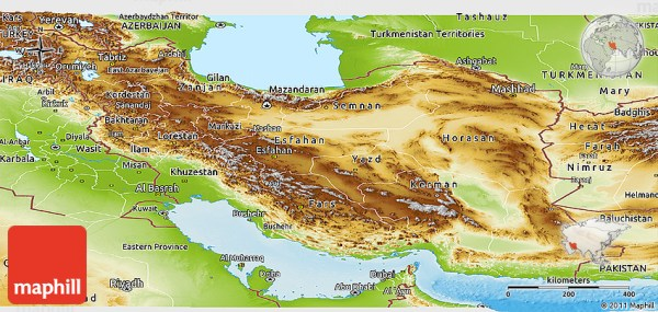 Physical Panoramic Map of Iran