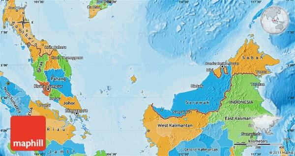 Political Map of Malaysia