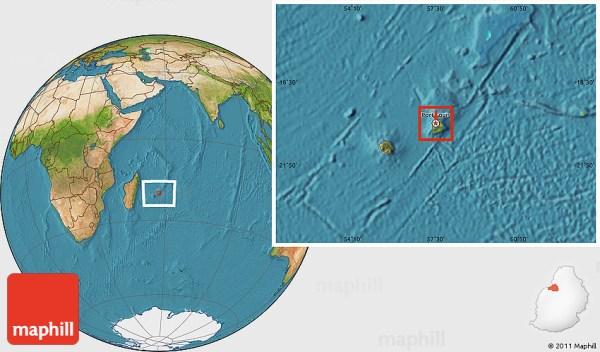 Satellite Location Map of Port Louis