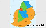 Political Simple Map of Mauritius