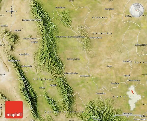 Satellite Map of Sabinas Hidalgo