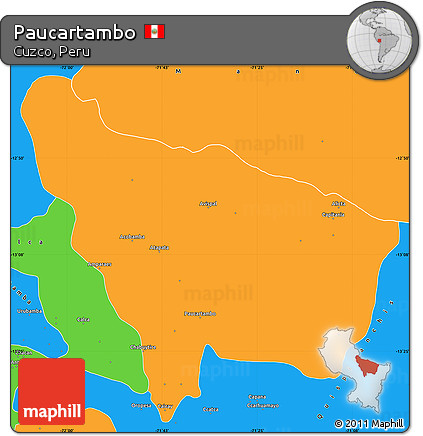 Free Political Simple Map of Paucartambo