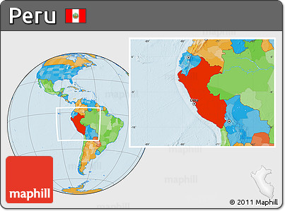 Free Political Location Map of Peru