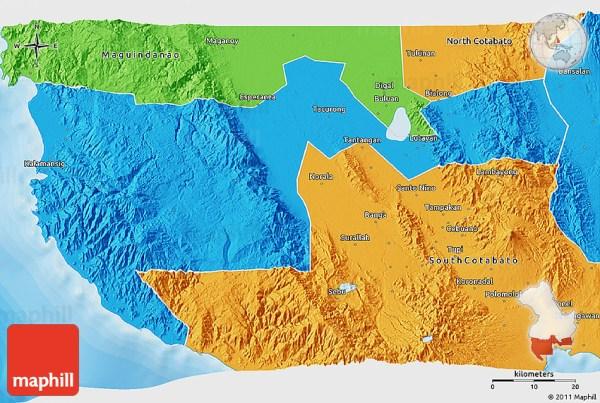 Political 3D Map of Sultan Kudarat