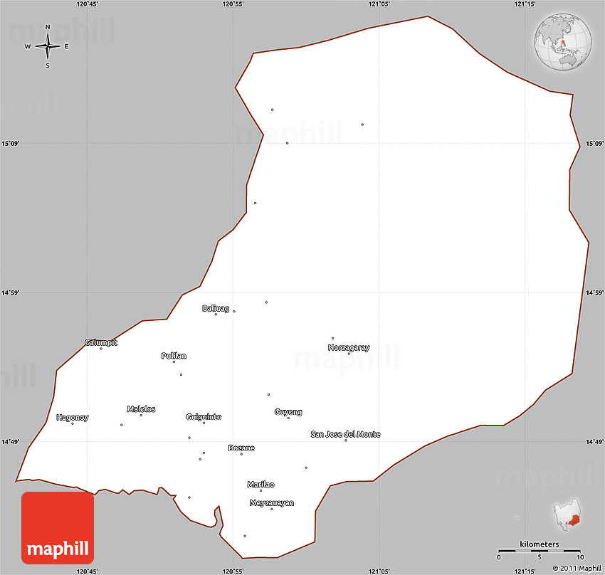 Philippines Map Hagonoy Bulacan