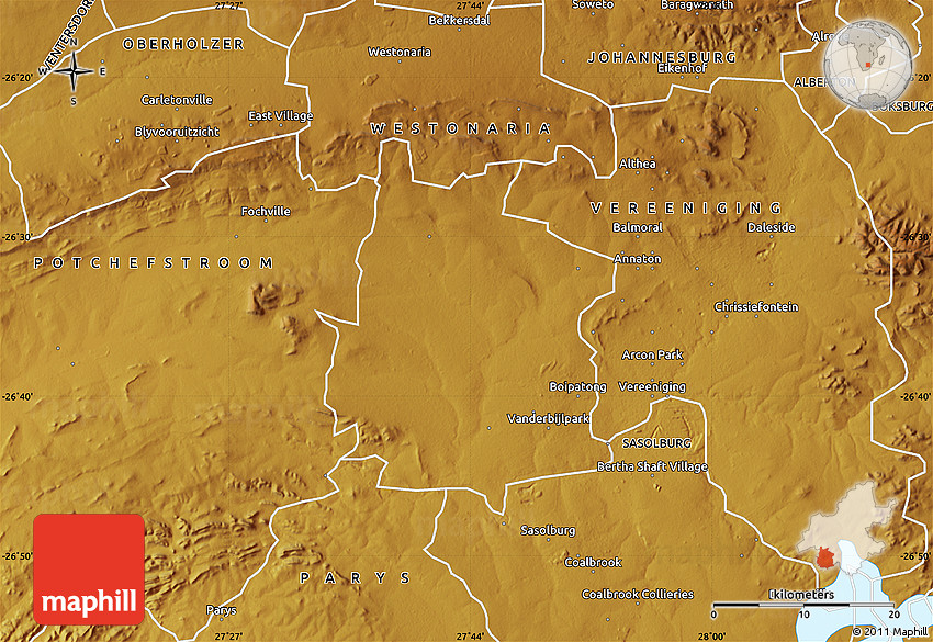 physical map of vanderbijlpark