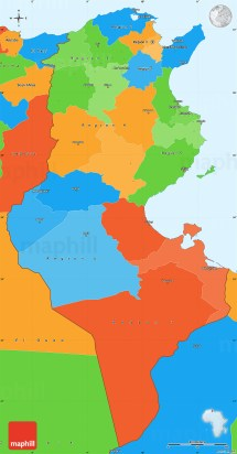 Tunisia North Africa Map - Year of Clean Water
