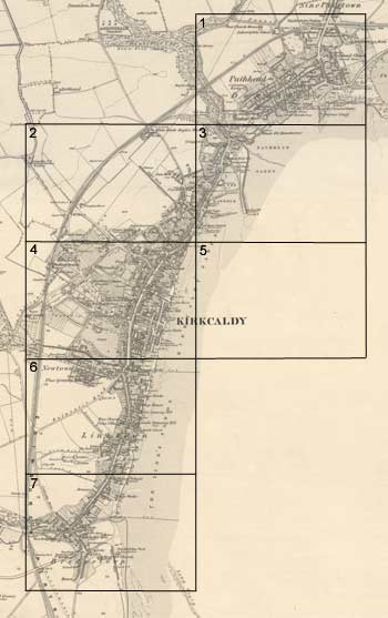 Kirkcaldy  Ordnance Survey large scale Scottish town