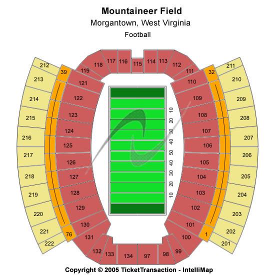 Mountaineer Field At Milan Puskar Stadium Seating Chart