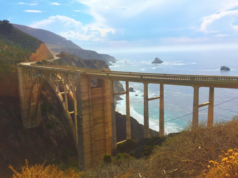 Driving Big Sur - Bixby Bridge - what to do in Big Sur; Big Sur road trip tips