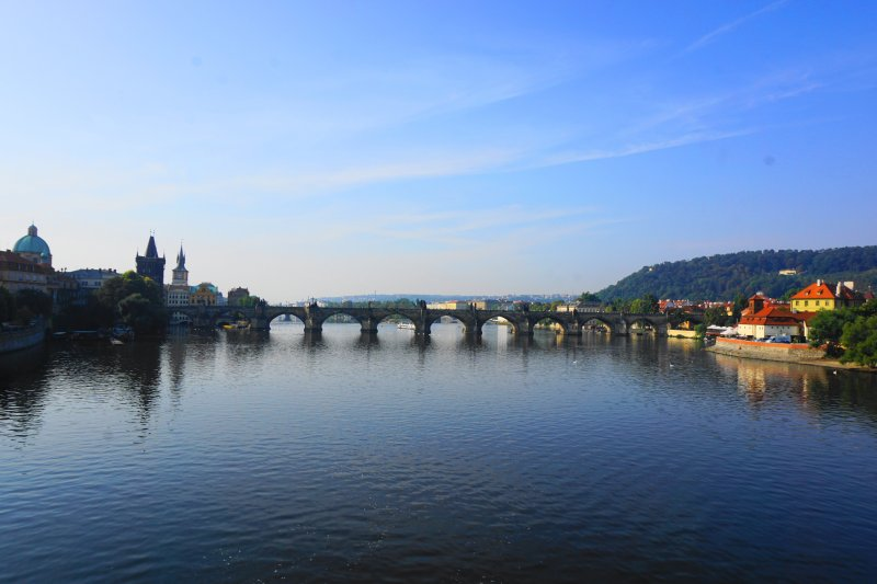 Charles Bridge from Afar Prague