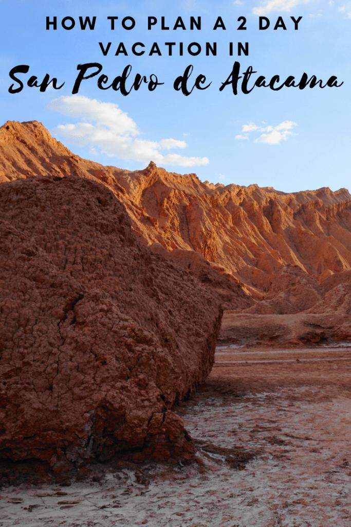 2 days in San Pedro de Atacama, Chile | #sanpedrodeatacama #chile #tatiogeysers #valledelaluna #valledelamuerte #piedrasrojas #miniques #miscanti #travel #desert #southamerica #geyser
