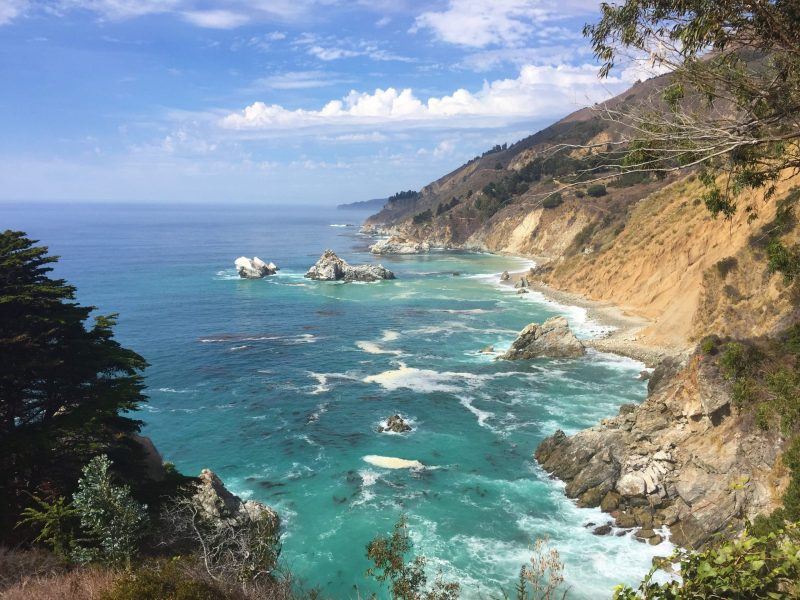8 day Pacific Coast Highway road trip itinerary - Big Sur McWay Falls