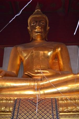 17m high bronze Buddha inside the temple