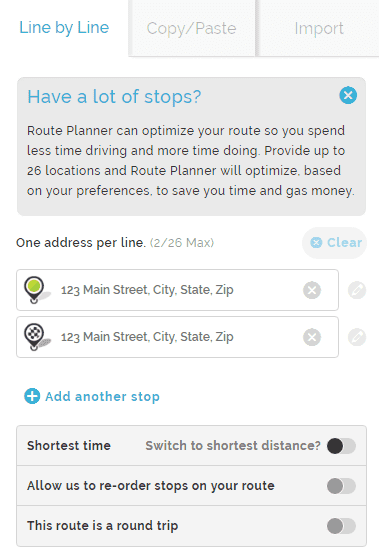 Mapquest Route Planner