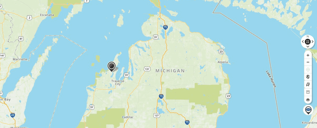 Mapquest Map of Michigan and Driving directions