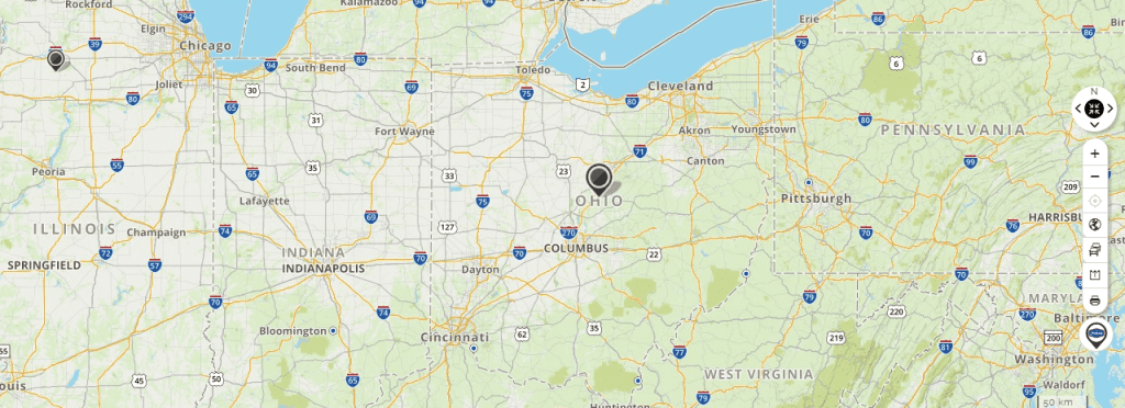 Mapquest Map of Ohio and Driving directions