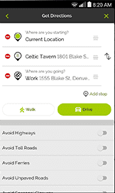 Mapquest walking directions app