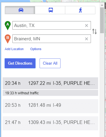 Yahoo maps route planner