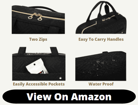 BAGSMART Toiletry Travel Bag space features