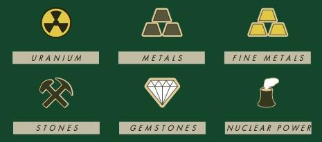 minerals legend