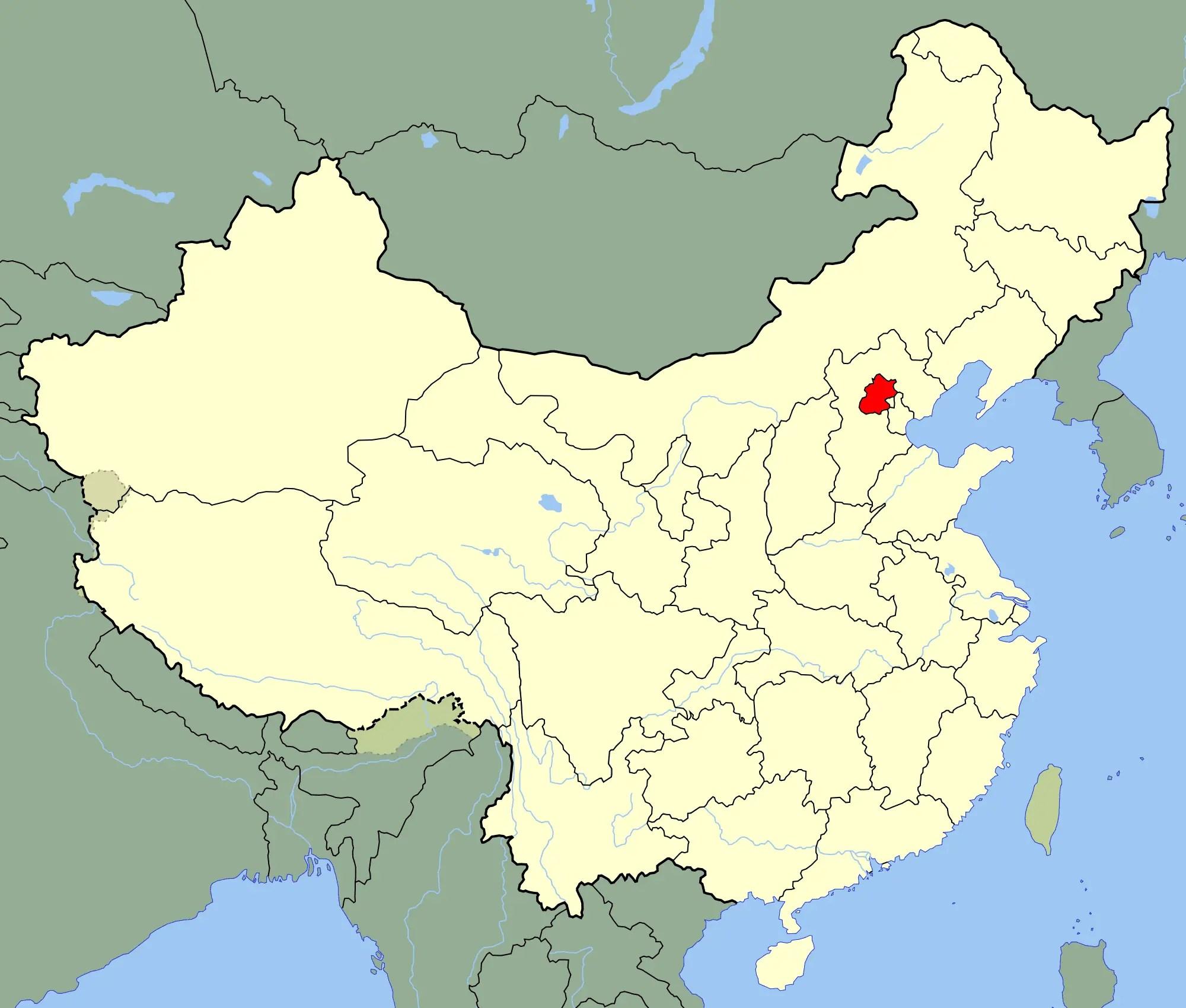 China Beijing Location Map Mapsof